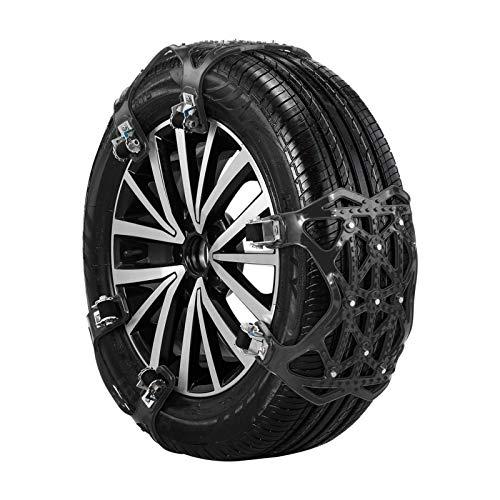 Kaigeli Snow Chain for Cars,Anti Slip Snow Chains (165mm-265mm),6 Set Emergency Anti Slip Tire Chains with Upgrade TPU Car Snow Chain for Trucks Minivan Pickup SUV/ATV/UTV Winter Universal Tires