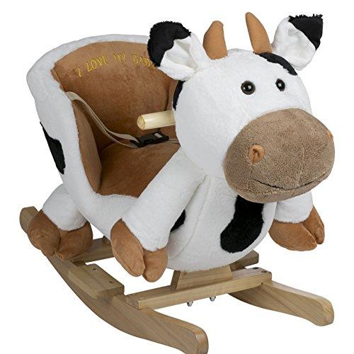 BabyGo Rocker Vitrine Bonaparte Vache–Bascule Vache Cow à partir de 6mois
