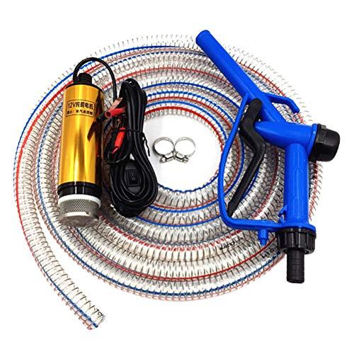 COTTILE Dieselkraftstoff-Transferpumpe 12V DC Ölpumpe Wasser Pumpe, Öl Diesel Heizöl Wasser Tauchpumpe Treibstoff Transfer Zigarettenanzünde