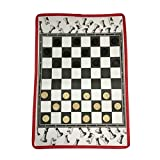 Juego de tablero de juego de ajedrez de viaje Ajedrez plegable portátil de viaje de damas juego de mesa for juegos y juguetes educativos for adultos y niños Juego de ajedrez para principiantes para ni