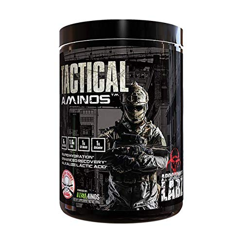 Apocalypse Labz Tactical Aminos - BCAAs, Essential Amino Acids, L-Glutamine, Citrulline Malate - for Fast Workout Recovery - Electrolytes Replacement Vegan Powder Supplement - Arctic Cherry Glacier