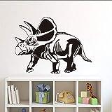 MRQXDP New Design Torosaurus Wall Stickers for Kids Rooms Dinosaurs Vinyl Removable Wall Art Mural Decals Home Decoration Accessories 59x43cm Wandaufkleber Wand Dormitory Wall