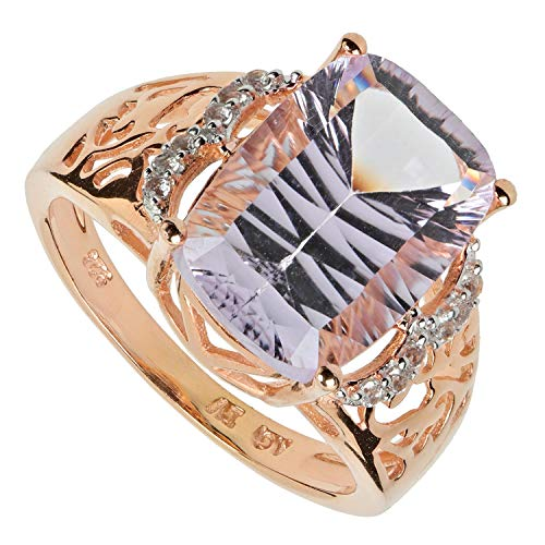 Harry Ivens Damen Ring aus Silber 925 vergoldet mit Lavendel Amethyst Weißtopas RW18
