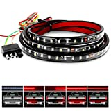 Nilight 60' Truck Tailgate Light Bar 108 LED Single Row Tailgate Light Strip with Red Running Brake Lights Turn Signal White Reverse Light, 2 Years Warranty