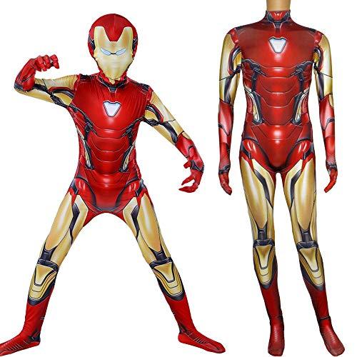 NEW EXOTIC Vestiti Cosplay Iron Man Cosplay Costume The Avengers 4 Stampa Digitale 3D Tight Natale Halloween Fancy Dress per Bambini/Adulti XXL