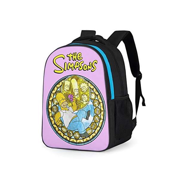 51mGBSR0s9L. SS600  - Mochila escolar unisex para niños The Simpsons con logotipo de los Simpsons, mochila escolar duradera con compartimento…