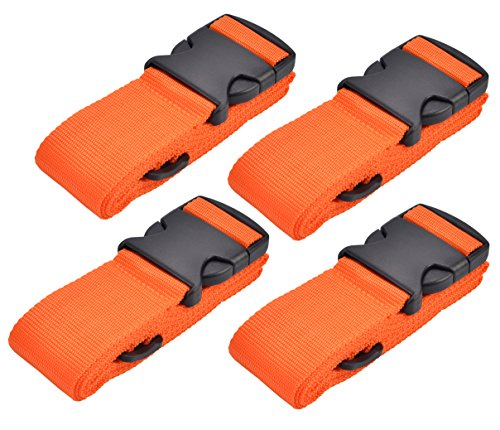 4Pack-Multicolor WeBravery Luggage Straps Suitcase Belt Travel Accessories