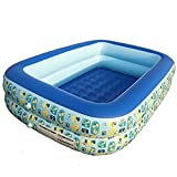 Familia Inflable Piscina Salón de tamaño Completo Piscina Pool Pool Center Pools Pools Summer Water Party (Color : Blue, Size : 125 * 95 * 38tworings)