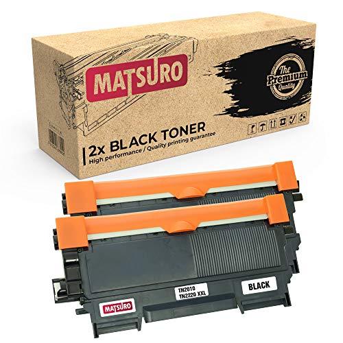 Matsuro Original | Compatible Cartucho de Toner Reemplazo para Brother TN-2010 XXL TN-2220 XXL (2 Negro)