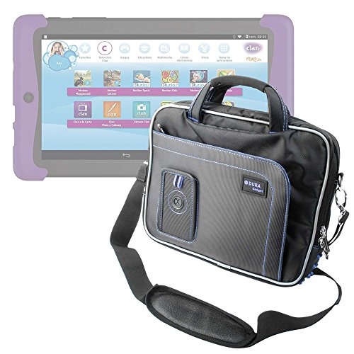 DURAGADGET Maletín con Diseño Innovador para Cefatronic - Tablet Clan Motion Pro - En Color Negro Y Azul