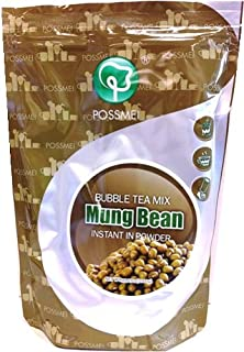 Possmei Bubble Tea Mix Instant Powder, Mung Bean, 2.2 Pound