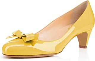 9353f2571d8 Amazon.com: 15 - Yellow / Pumps / Shoes: Clothing, Shoes & Jewelry