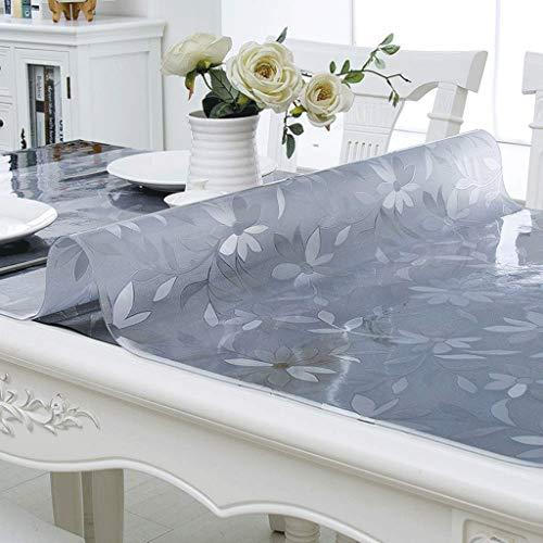 GZQDX Protector de Mesa de PVC, manteles a Prueba de Aceite, de plástico Transparente, decoración de Escritorio Clara for la Mesa de Cocina de Comedor