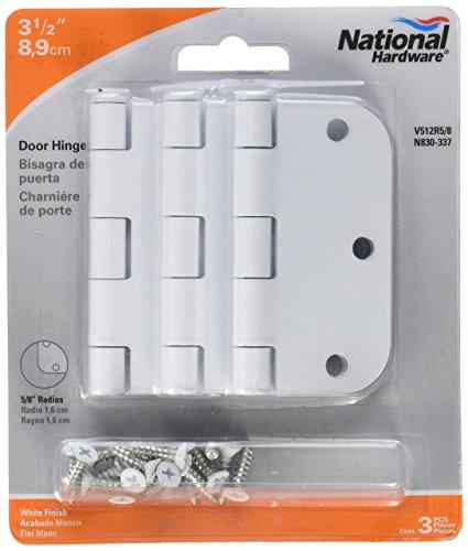 NATIONAL MFG/SPECTRUM BRANDS HHI N830-337 Door Hinge, 3.5-Inch, White, 3-Pack
