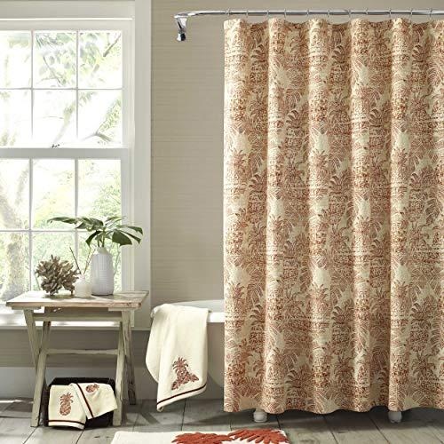 Tommy Bahama Batik Pineapple Shower Curtain, 72x72, Orange