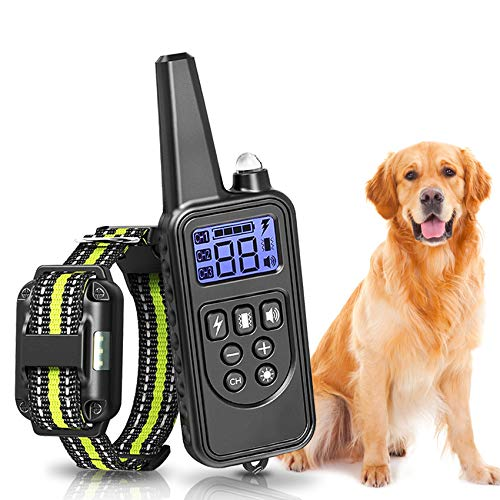 Dog Training Collar - Small Size Shock Collar for Small to Large Dogs 5-120lbs, Waterproof and Rechargeable Electric Dog Collar with Remote, Adjustable, Beep, Vibration and Shock Training Modes