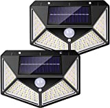 Solar Lights Outdoor, <span class='highlight'><span class='highlight'>Havnyt</span></span> Upgraded 114 LED Solar Motion Sensor Security Lights IP65 Waterproof Wireless Solar Powered Wall Lights with 270º Wide Angle with 3 Intelligent Modes for Outside 2 Pack