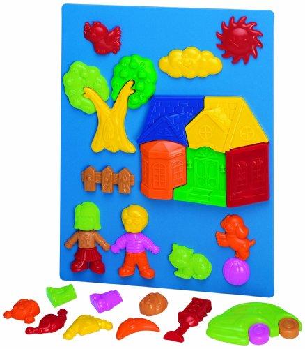 Formes magnétiques Playset de Megcos 32 parties de jouet d'enfants