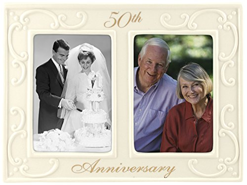 Malden International Designs 50th Anniversary Ceramic Picture Frame