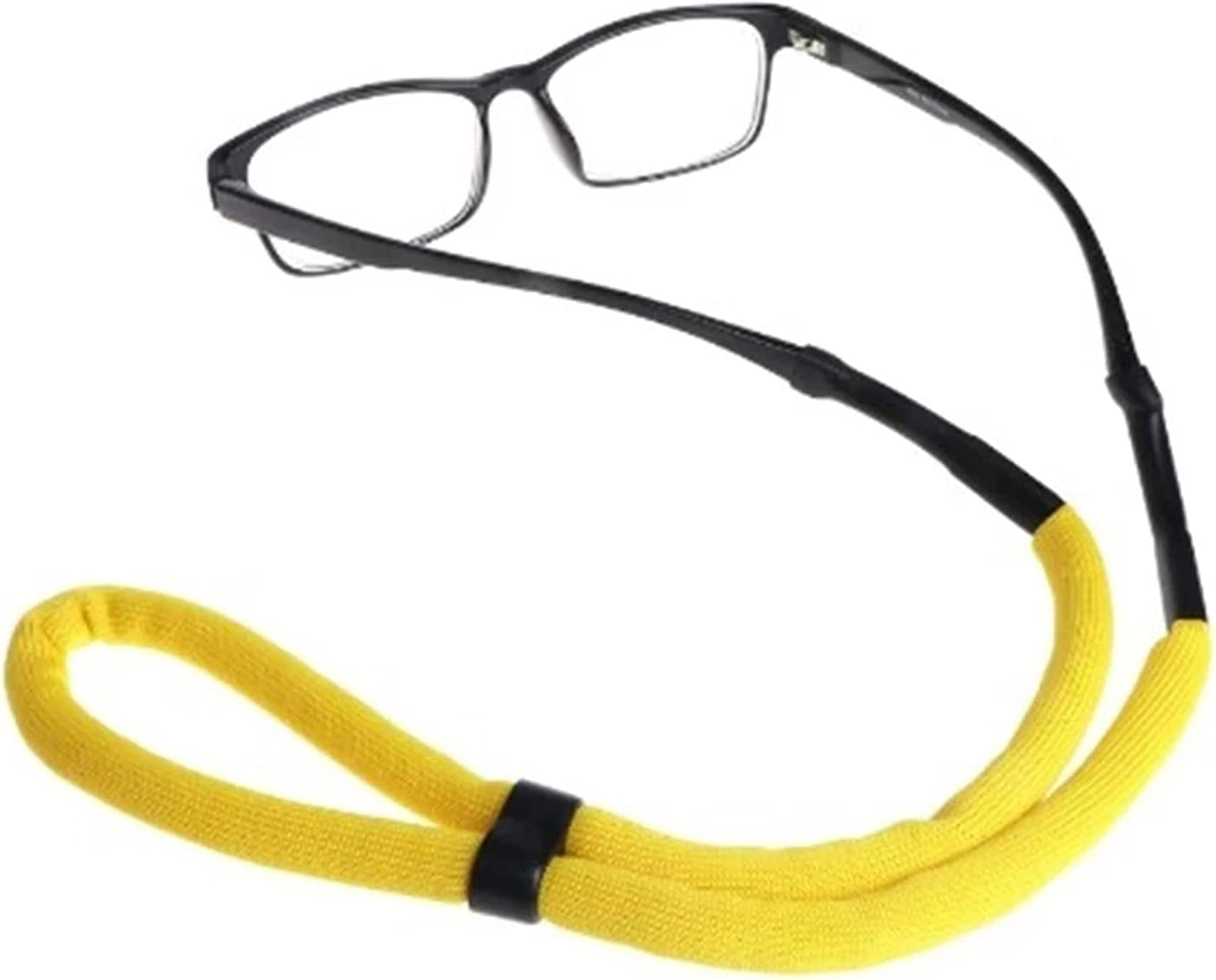 GWSD 6 Pc Floating Foam Chain Eyeglasses Straps Sunglasses Chain Sports Anti-Slip String Glasses Ropes Band Cord Holder (Color : Yellow)