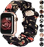 TOYOUTHS Compatible with Apple Watch Band Scrunchie 38mm 40mm Women Soft Elastic Cloth