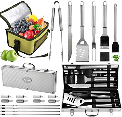 ROMANTICIST 20pc Complete Grill Accessories...