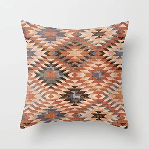 PPMP Funda de Almohada de diseño Retro con diseño de Espiga étnica para el hogar, sofá, Funda de Almohada Decorativa, Funda de cojín A1 45x45cm, 2pcs