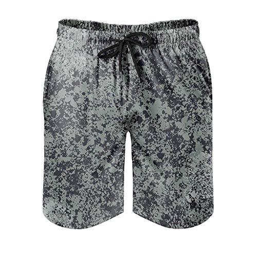 Herren Marmor Textur Badehose Lose - Muster Shorts White 4XL