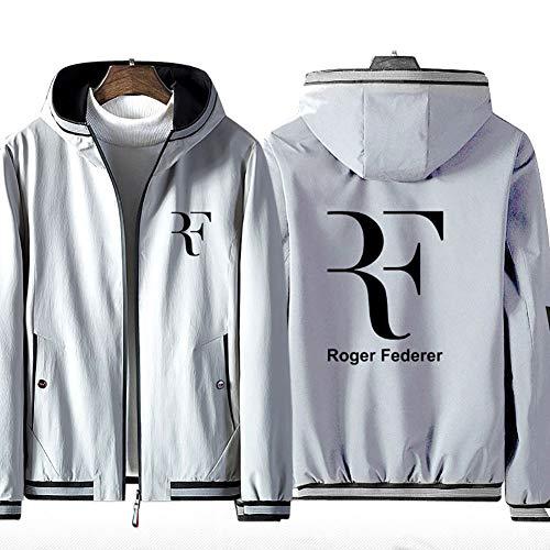 73HA73 Sudadera con Capucha y Cremallera para Tennis Grand Slam Roger Federer Jacket Deportiva Cómoda de Manga Larga Unisex (No Shirt)