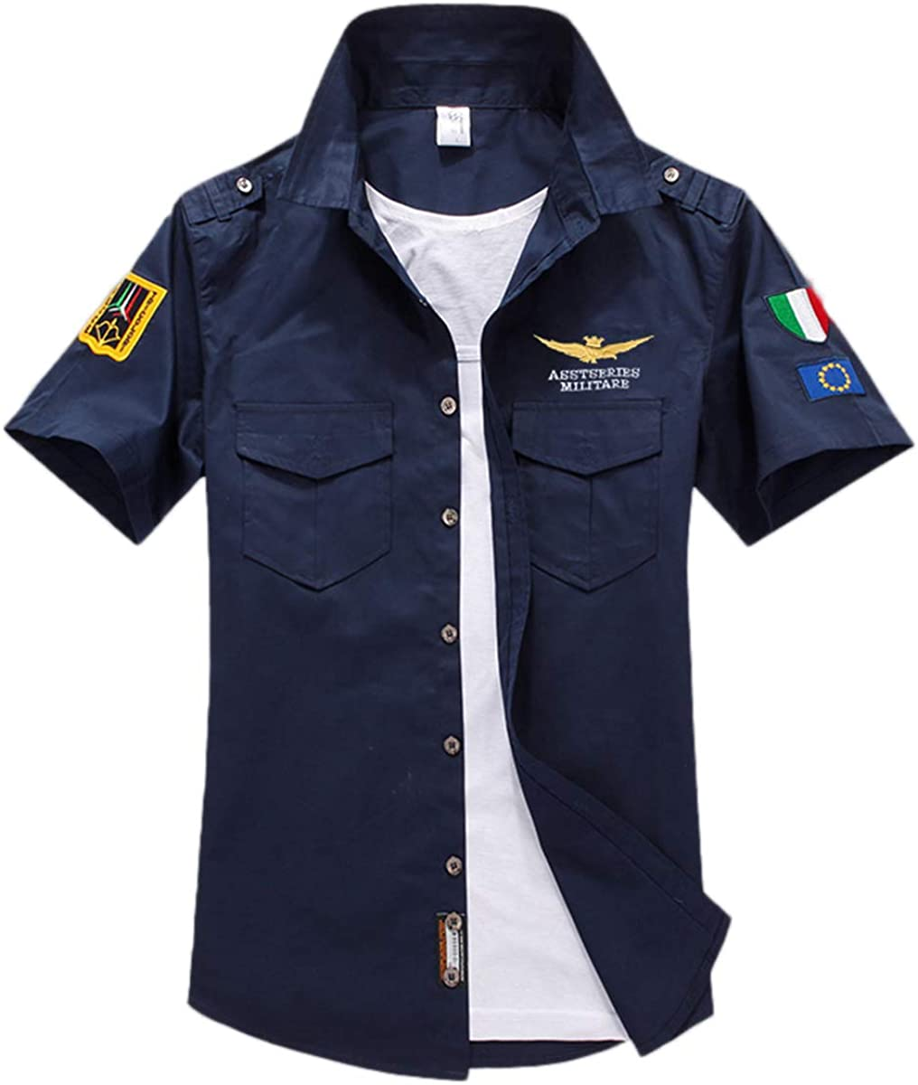 Camiseta Corta de Hombre, Camisa de algodón, Camisa de Manga ...