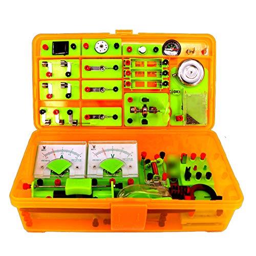 Pevfeciy Laboratorio De FíSica Kit Circuitos Electronicos,Laboratorio Electricidad Kit Electrico Escolar para NiñOs,Juegos Educativos de Ciencias-Electricidad Y Magnetismo