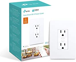 Kasa Smart (KP200) Wifi 2 Outlet In-Wall Plug - Smart Plug, No Hub Required, Works with Alexa and Google