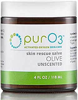 PurO3 Fully Ozonated Olive Oil - 4 Oz - Glass Jars