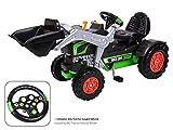 BIG Jim-Turbo Kinderfahrzeug Traktor Grün - Hochwertiger Trettraktor für Jungen