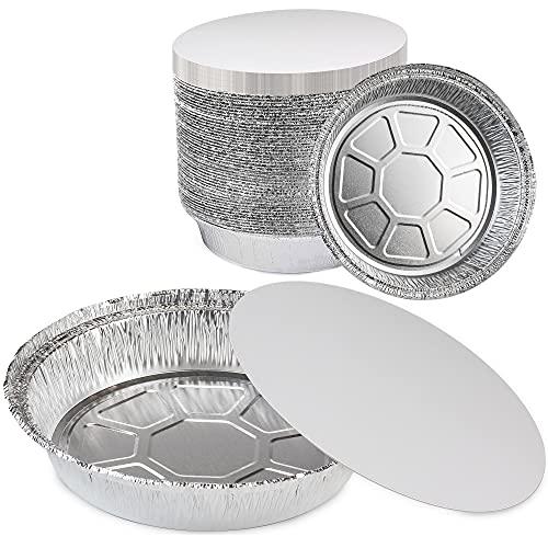 Round 8 Inch Disposable Aluminum Foil Pan