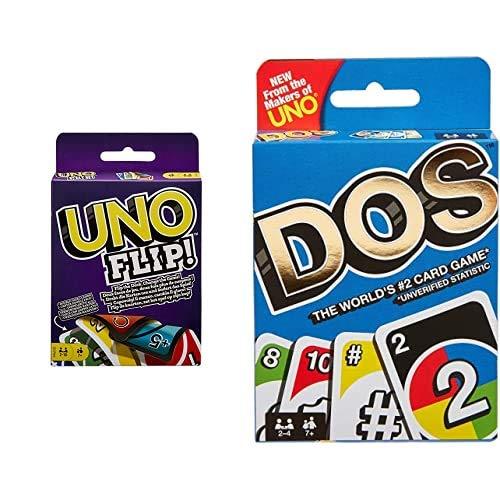 Mattel Games Uno Flip, GDR44 + Uno FRM36 Dos