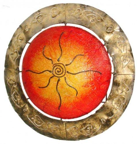 Deko-Leuchte RONDO, Wand-Lampe,Sonnenmotiv, rund, ca 40 cm Durchmesser, Stimmungsleuchte