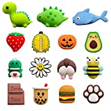 15 Pack USB Charger Protector for iPhone iPad Cable, Animals Fruit Bite Charging...