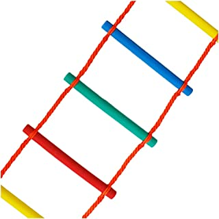 FIREDUXYL Emergency Escape Rope Ladder, Outdoor Over-The-Rainbow Climbing Rope Ladder, Indoor Outdoor Playset for Boys and Girls Climbing Ladder,5m