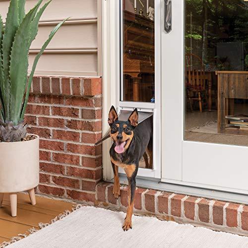 PetSafe Schuifglazen kat en hond deur insert - geweldig voor verhuur en appartementen - geen snijden DIY installatie - (Medium)
