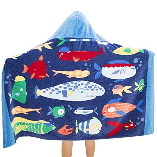 Amknn Toalla de baño con capucha para niños de 76 x 127 cm (largo x ancho). Toallas de baño para niños 100% algodón