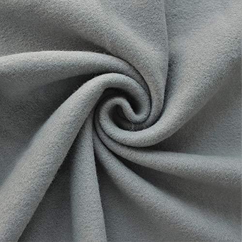 STOFFKONTOR Baumwolle Fleece Stoff Season Classic - Öko-Tex Standard 100 - Meterware, dunkel-grau - zum Nähen von Bekleidung, Decken, Dekoration, zum Basteln UVM.