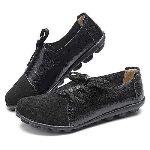 Camfosy Damen Flach Loafers,Frau Samt Elegant Wanderschuhe Riemchen Geschlossene Halbschuhe Bequme Mokassins 2020 Frühjahr Sommer Damenschuhe