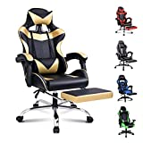 Alfordson Gaming Chair Racing Office Chair Computer Desk Chair PU Leather High Back