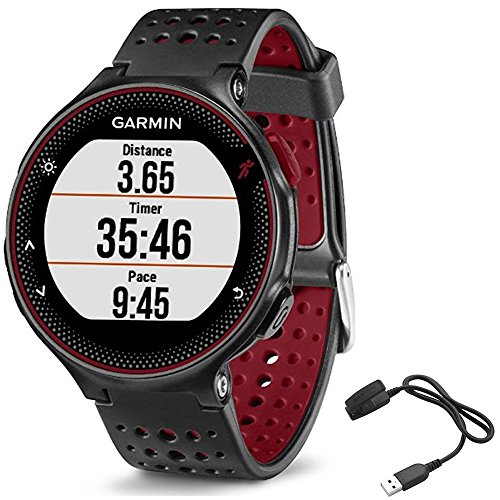 Garmin Forerunner 235 GPS Sport Watch - Marsala - Charging Clip Bundle Includes Forerunner 235 GPS and Charging Clip