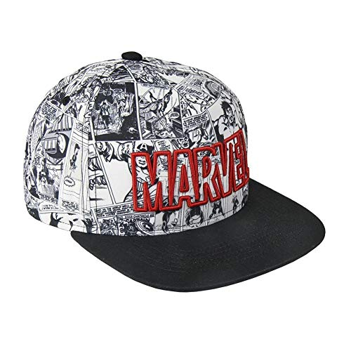 Marvel-Cap Classic Logo Snapback-Cap Kappe für Herren, Damen und Jugendliche