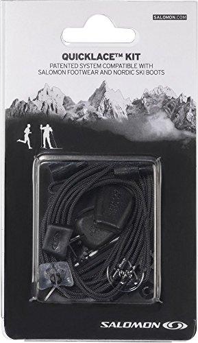Salomon Quicklace Kit - Cordones para zapatillas de correr y botas de esqui, negro