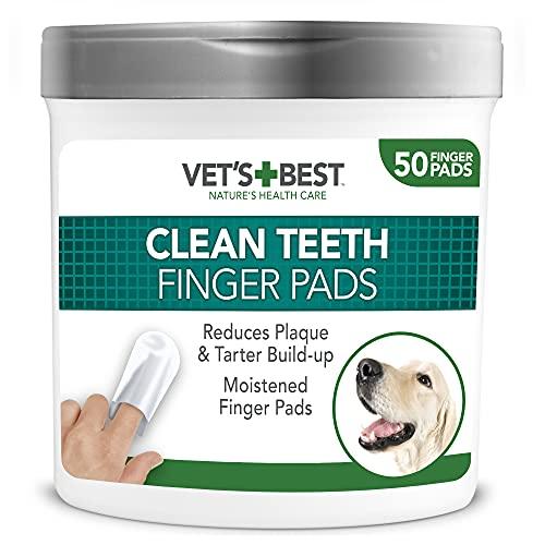 Vet's Best Almohadillas de Limpieza de Dientes Naturales para Perros 50 Unidades 160 g