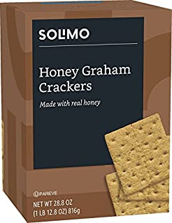 Amazon Brand - Solimo Honey Graham Crackers with Real Honey, 28.8 Ounce