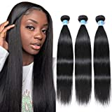 8A Peruvian Straight Human Hair 3 Bundles Deals 100% Unprocessed Silky Straight Virgin